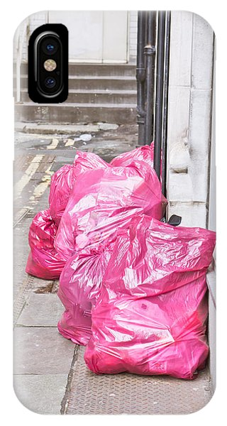 Rubbish Bin iPhone Case - Litter Bags by Tom Gowanlock