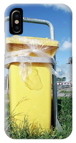 Rubbish Bin iPhone Case - Litter Bin by Chris Martin-bahr/science Photo Library