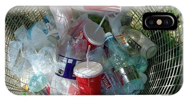 Rubbish Bin iPhone Case - Litter Bin by Robert Brook/science Photo Library