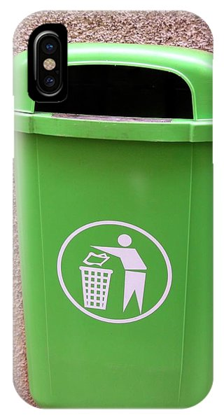 Rubbish Bin iPhone Case - Litter Bin by Tony Craddock/science Photo Library