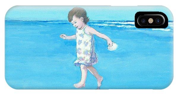 Little Beach Girl IPhone Case