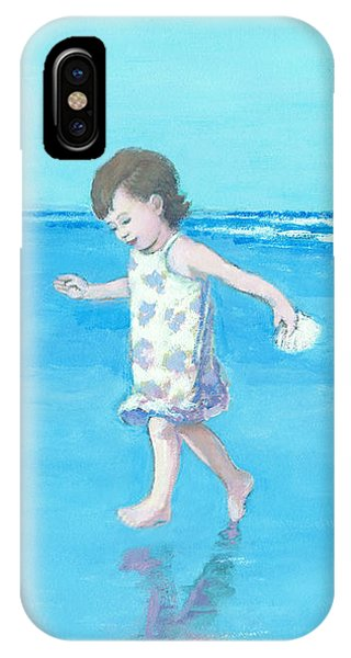 Little Beach Girl IPhone Case