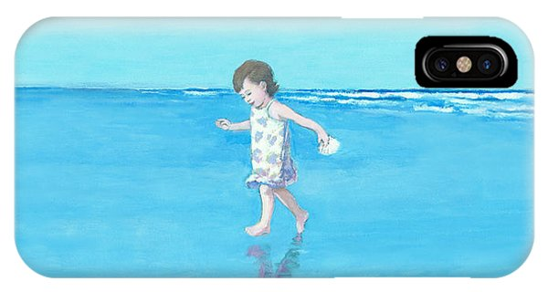 Little Beach Girl Panorama IPhone Case