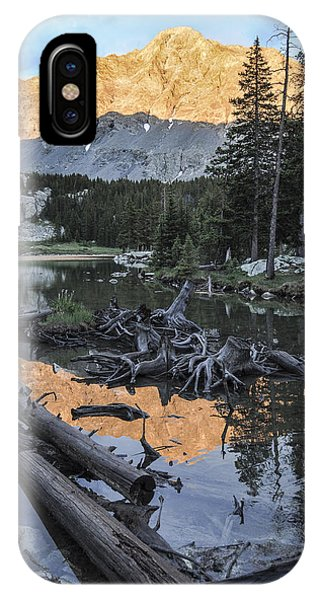 Sangre De Cristo iPhone Case - Little Bear Peak Reflection by Aaron Spong