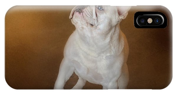 Little Beggar - White French Bulldog IPhone Case