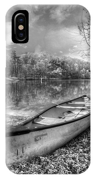 Chilhowee iPhone Case - Little Bit Of Heaven Black And White by Debra and Dave Vanderlaan