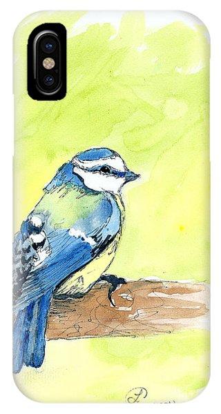 Little Blue Bird IPhone Case