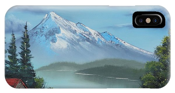 Little Cabin At The Lake IPhone Case
