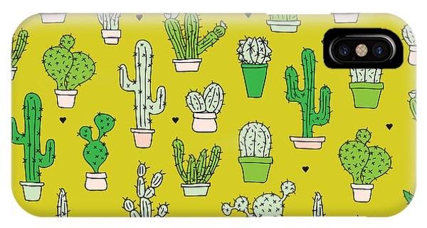 Succulent iPhone Case - Little Cactus Botanical Garden by Maaike Boot