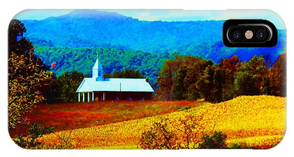 Little Church In The Mountains Of Wv IPhone Case
