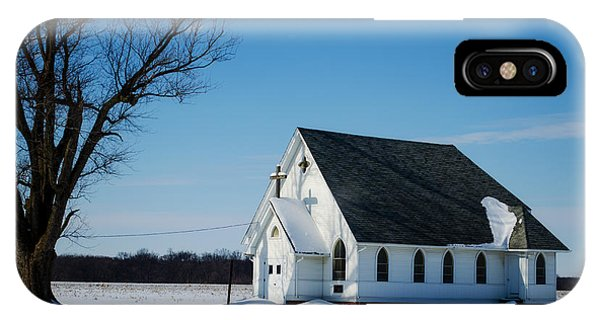 Little Church On The Prairie IPhone Case