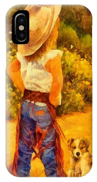 Little Cowgirl IPhone Case