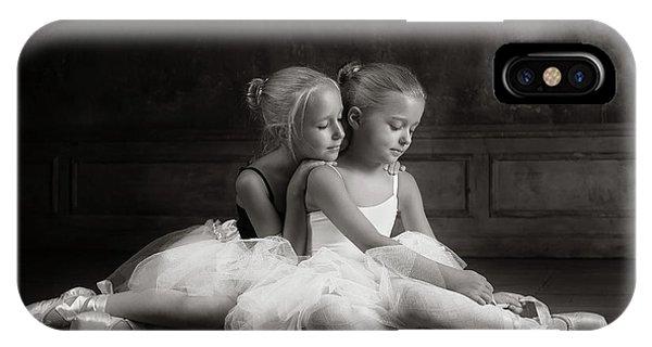 Hug iPhone Case - Little Dancers by Victoria Ivanova