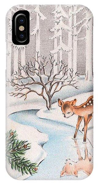 Vintage iPhone Case - Little Deer by Munir Alawi