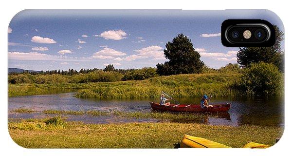 Little Deschutes River Bend Sunriver Thousand Trails IPhone Case