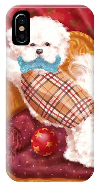 King Charles iPhone Case - Little Dogs - Bichon Frise by Shari Warren