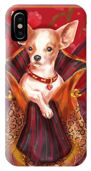 King Charles iPhone Case - Little Dogs- Chihuahua by Shari Warren