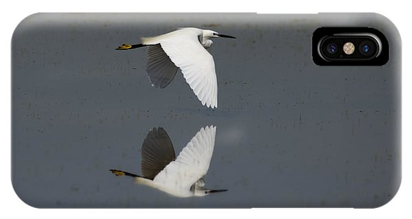 Little Egret In Flight IPhone Case