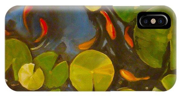 Little Fish Koi Goldfish Pond IPhone Case