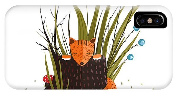 Cause iPhone Case - Little Fox Sitting In Forest Behind The by Popmarleo