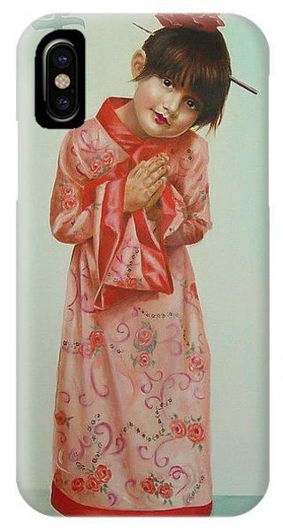 Little Geisha Phone Case by JoAnne Castelli-Castor