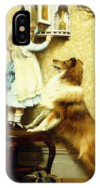 Little Girl And Her Sheltie IPhone Case
