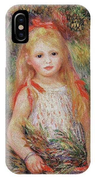 Little Girl Carrying Flowers IPhone Case