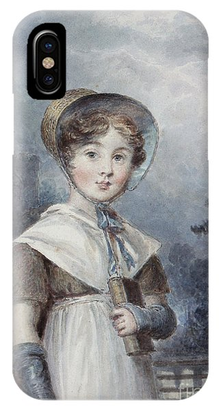 Little Girl In A Quaker Costume IPhone Case