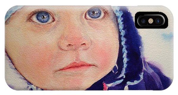 Little Girl In Snow IPhone Case