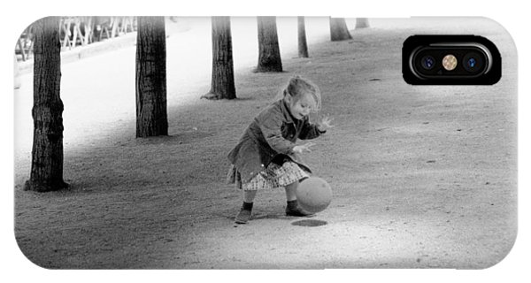 Little Girl With Ball Paris IPhone Case