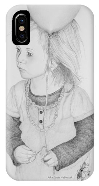 Little Girl With Balloon IPhone Case