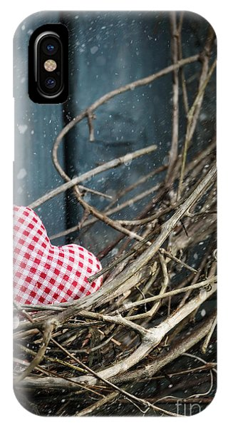 Little Heart On Christmas Wreath IPhone Case
