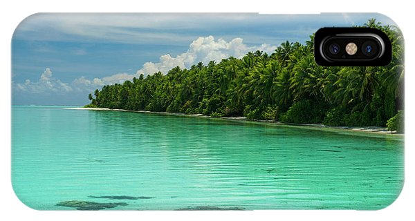 Micronesia iPhone Case - Little Islet And Turquoise Water by Michael Runkel