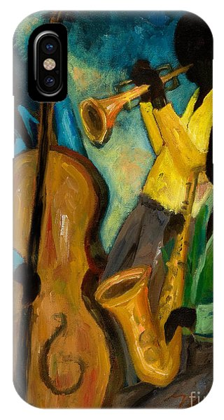 Trumpet iPhone X / XS Case - Little Jazz Trio IIi by Larry Martin