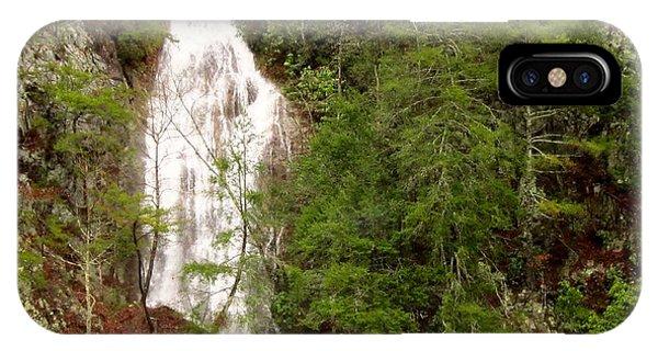 Little Laurel Branch Falls Landscape IPhone Case