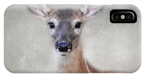Little Miss Lashes - White Tailed Deer - Fawn IPhone Case
