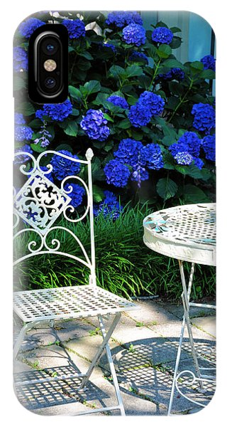 Flower Gardens iPhone Case - Little Patio Chair by Jan Amiss Photography
