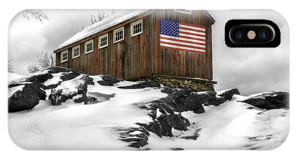 New England Barn iPhone Case - Standing Tall by T-S Fine Art Landscape Photography