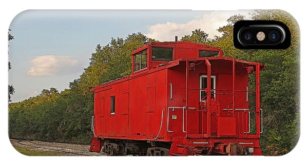 Red Caboose iPhone Case - Little Red Caboose by HH Photography of Florida