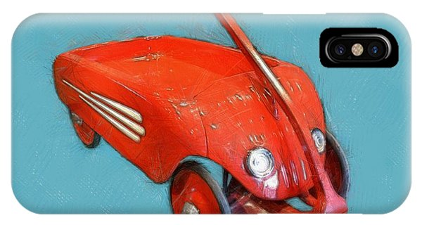 Little Red Wagon IPhone Case