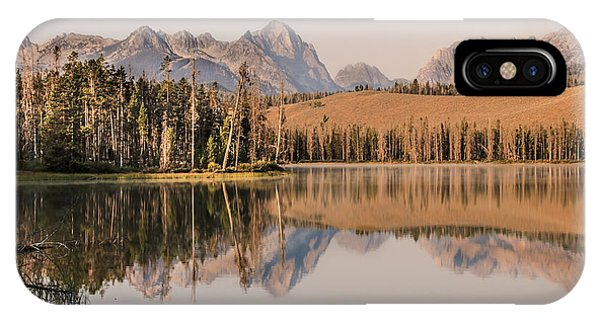 Little Redfish Lake Reflections IPhone Case