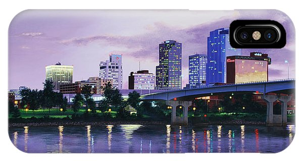 Little Rock Skyline IPhone Case