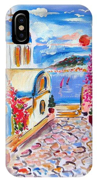 Little Santorini Alley IPhone Case