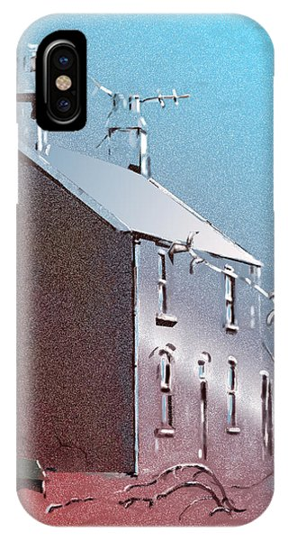 Welsh House In Snow IPhone Case