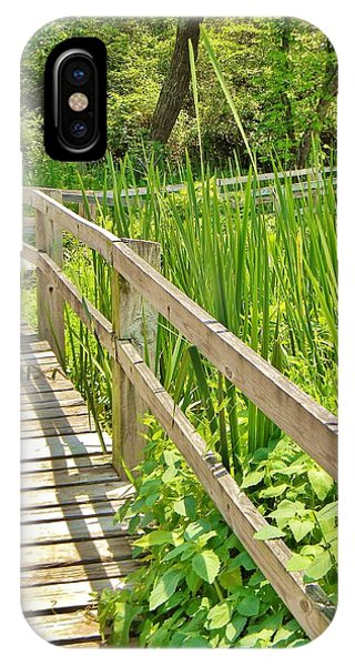 Little Wooden Walking Bridge IPhone Case