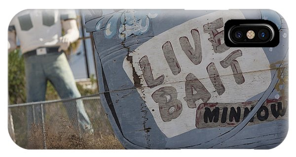 Live Bait And The Man IPhone Case