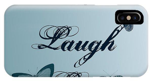 Live Laugh Love Butterflies IPhone Case