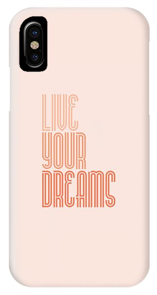 Live Your Dreams Wall Decal Wall Words Quotes, Poster IPhone Case