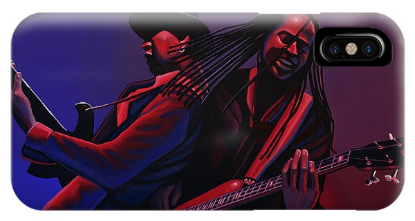 Punk Rock iPhone Case - Living Colour Painting by Paul Meijering