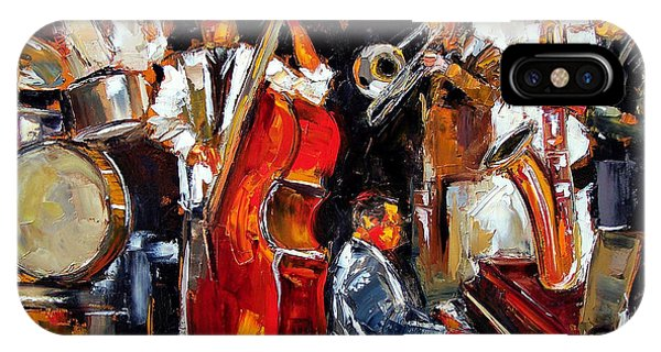 Drum iPhone Case - Living Jazz by Debra Hurd